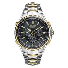 Seiko SSG010 Men's Coutura Radio Sync Solar Chronograph Two Tone Stainless Watch