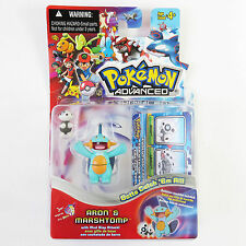 Pokemon Advanced Unopened Action Figures Aron & Marshtomp Mud Slap Attack Hasbro