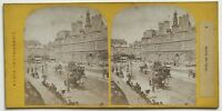 Parigi Istantanea Hotel De Ville Foto Stereo Vintage Albumina c1865