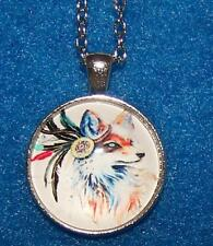 FOX FEATHER native PENDANT Sterling Silver necklace women FREE KEY CHAIN GIFT