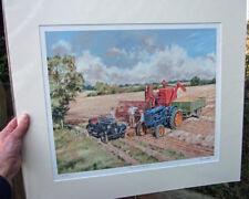 Massey Harris 780 Combine, Fordson E27N Whitlock - Harvest scene by Steven Binks