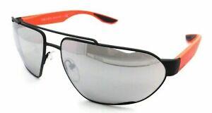 Prada Sport Sunglasses PS 56US 452-2B0 66-15-130 Black - Orange / Grey Mirror