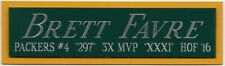 BRETT FAVRE GREEN BAY PACKERS NAMEPLATE FOR AUTOGRAPHED Signed FOOTBALL JERSEY