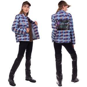 RRP €430 ACNE STUDIOS BLA KONST Denim Shirt Jacket Size 36 / S Distressed Clouds