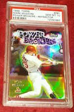 MARK MCGWIRE 1999 TOPPS POWER BROKERS REFRACTOR DIE-CUT PSA 10 ☆ A GEM BEAUTY