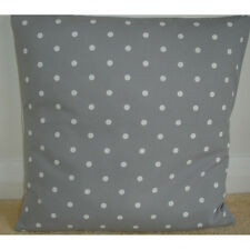 "NEW 24"" Cushion Cover Grey White Polka Dots Spots Nursery Bedroom Silver Gray"