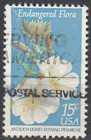 USA Briefmarke gestempelt 15c Antioch dunes evening Primrose Blume / 2567