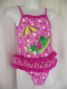 BNWT Girls Sz 2 Dorothy The Dinosaur Pretty Pink One Piece Swim Suit Bathers