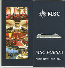 MSC  POESIA....cruise ship...Piano Nave / Deck Plan w/lg cut a way....   revised