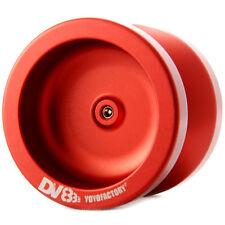 Red DV888 Responsive Metal Yo Yo From The YoYoFactory + 3 NEON STRINGS YE/OR/GRN