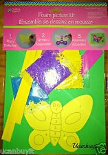 Foam Butterfly Picture Craft Kit ~ Everything Included ~ No Glue Required Age 4+