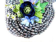 Zuchtperlen Strang 44 cm !!! Süßwasser Perlen Schmuck Halsketten 6-7 mm barock
