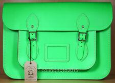 The Cambridge Satchel Company Green Leather 14 Inch Crossbody Handbag