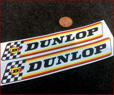 Dunlop x2 180mm Racing Sticker Decal Vintage Retro Rally Car Man