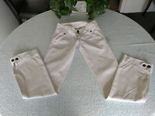 Aberctombie & Fitch Sz. OO jeans pants white denim 💯% cotton frayed hems