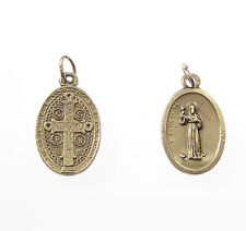 Saint St. Benedict silver metal medal for rosary beads pendant 2cm Catholic gift