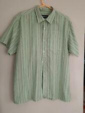 ROHAN Outback Mens Shirt XL Greens Striped coolness
