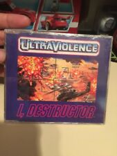 New Rare Sealed Audio CD I Destructor Ultraviolence 3 Track Album Techno Music
