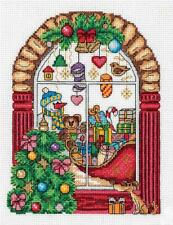 Klart Counted Cross Stitch Kit -  Christmas Shop Window