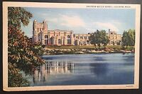 Saginaw Michigan Water Works Vintage Postcard Postmark 1935 D150