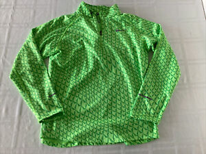Nike Element Running Dri Fit 1/4 Zip Long Sleeve Youth XL Green Pullover TS0