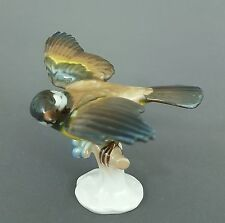 Rosenthal Vogel Figur, Meise, Entwurf Hugo Meisel 1956, Höhe 11 cm, Mod.Nr 1184
