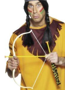 Native American Indian Fancy Dress Bow & Arrow Set Wild West Kit by Smiffys