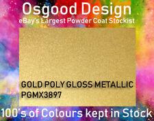 GOLD POLY GLOSS METALLIC 1kg Powder Coat EPmX3897 Refurbishment Alloy Wheel
