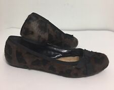 Pre Owned Simply Vera Wang Ganauche Hairy Leopard Style Flat Woman ShoeSize 7.5
