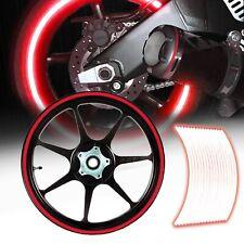 "Bright Red 16/17/18/19"" Reflective Rims Tape/Wheel Trim Decal Stripes Sticker"