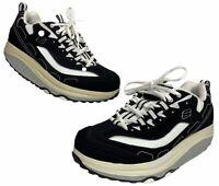 SKECHERS Shape-Ups Women's Black/White Fitness Walking Exercise Shoes Size 7