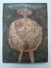 jean dubuffet oil on canvas painting signed & stamped