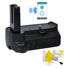 Vivitar Bluetooth Battery Grip for Nikon D3100 D3200 D3300 +Deluxe Cleaning Kit