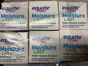 6 Pack Equate Moisture Last Soft Lens Contact Solution 12oz (6 Pack) Exp 9/21
