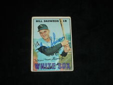 1967 Topps Bill Skowron Autographed Baseball Card-Chicago White Sox-#357