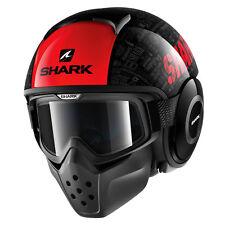 SHARK JETHELM DRAK TRIBUTE RM Gr.M NEU schwarz rot von BikerWorld