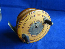 "A NICE VINTAGE 3 1/2"" NOTTINGHAM LATCH COMBINATION WOODEN CENTREPIN REEL"