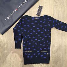 BNWT Girls Tommy Hilfiger knitted tunic dress jumper Size 2y 92cm 100% Genuine