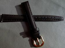 New Womens Timex Brown Padded Genuine Leather Calfskin 12mm LONG Watch Band