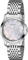 Gucci YA126510 G-Timeless 27MM Women's Diamond Stainless Steel Watch