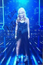 AMELIA LILY: English singer Super genuinely signed 12 x 8 color photo. COA.