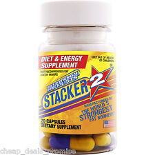 Genuine Stacker 2 Capsules 20ct Bottle Ephedra Free Herbal Dietary Supplement