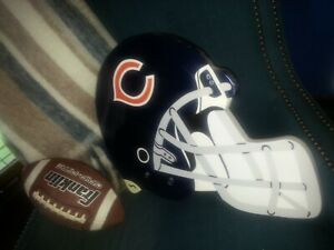Chicago Bears NFL Football Helmet Plaque Wall Hanging  -  Laminated