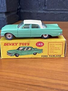 Dinky Toys 148 Ford Fairlane 1/43 Customised Two Tone Excellent In Original Box