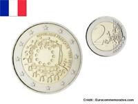 2 Euros Commémorative FRANCE Drapeau / Flag 2015 UNC