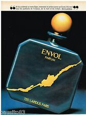 PUBLICITE ADVERTISING 085 1981 TED LAPIDUS  ENVOL  parfum homme ENVOL