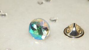 S/P or G/P Tie Tack/Cravat/Scarf/Lapel/Modesty Pin with 12mm Resin Rhinestones