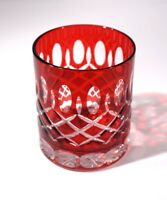 Beautiful Ruby Glass Crystal Whiskey Tumbler