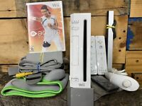 Nintendo Wii White Video Game Console Remotes Bundle / Active Personal Trainer