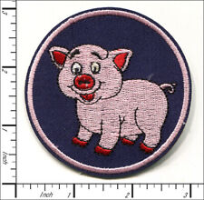 30 Pcs Embroidered Sew or Iron on patch Lovely Cute Pig Piggy AP013pA